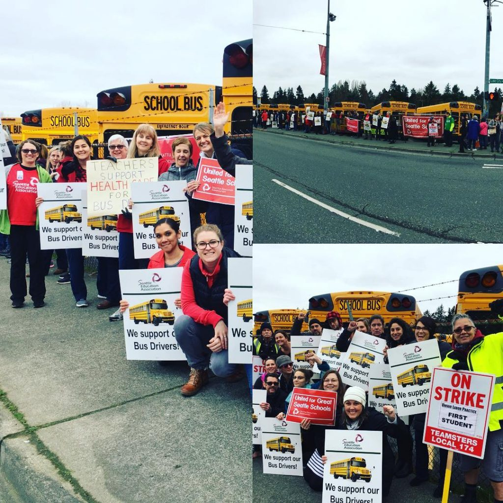 SEA educators supporting bus drivers at the Lake City bus barn!