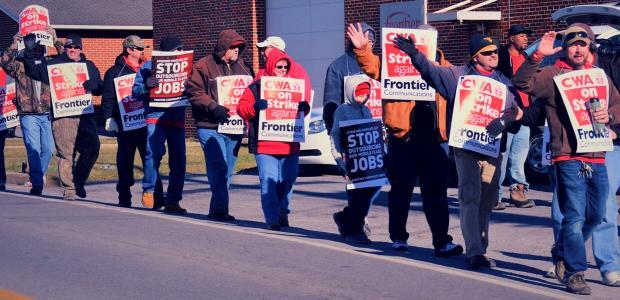 CWA workers on strike