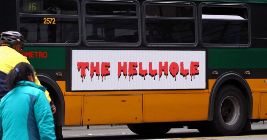 The Hellhole Logo on a Seattle Metro Bus