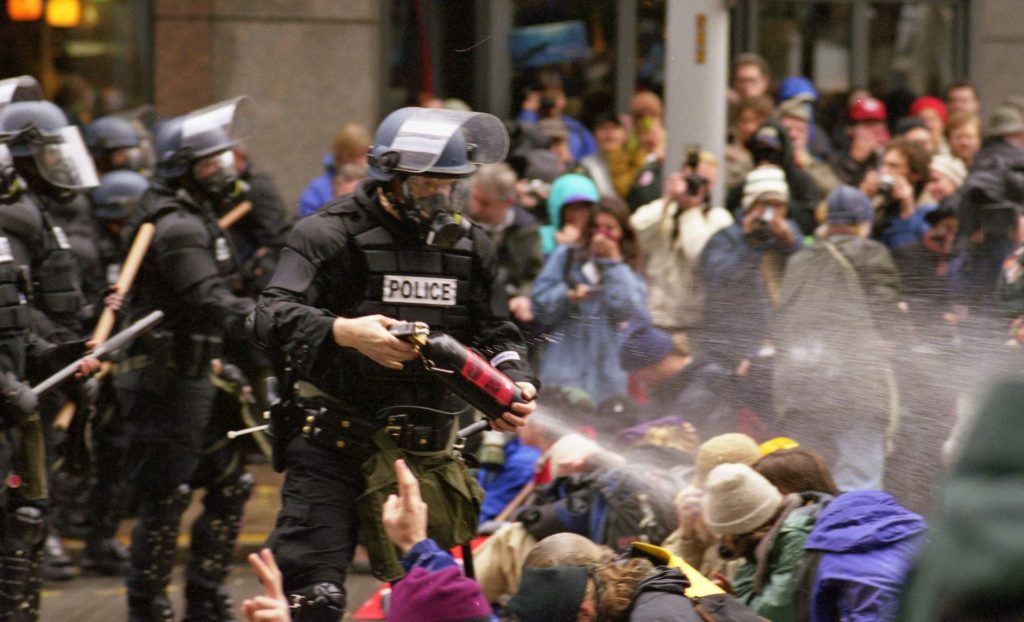 WTO protests in Seattle November 30, 1999